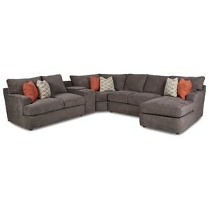 5-Seat Sectional Sofa w/Cupholders & RAF CHS