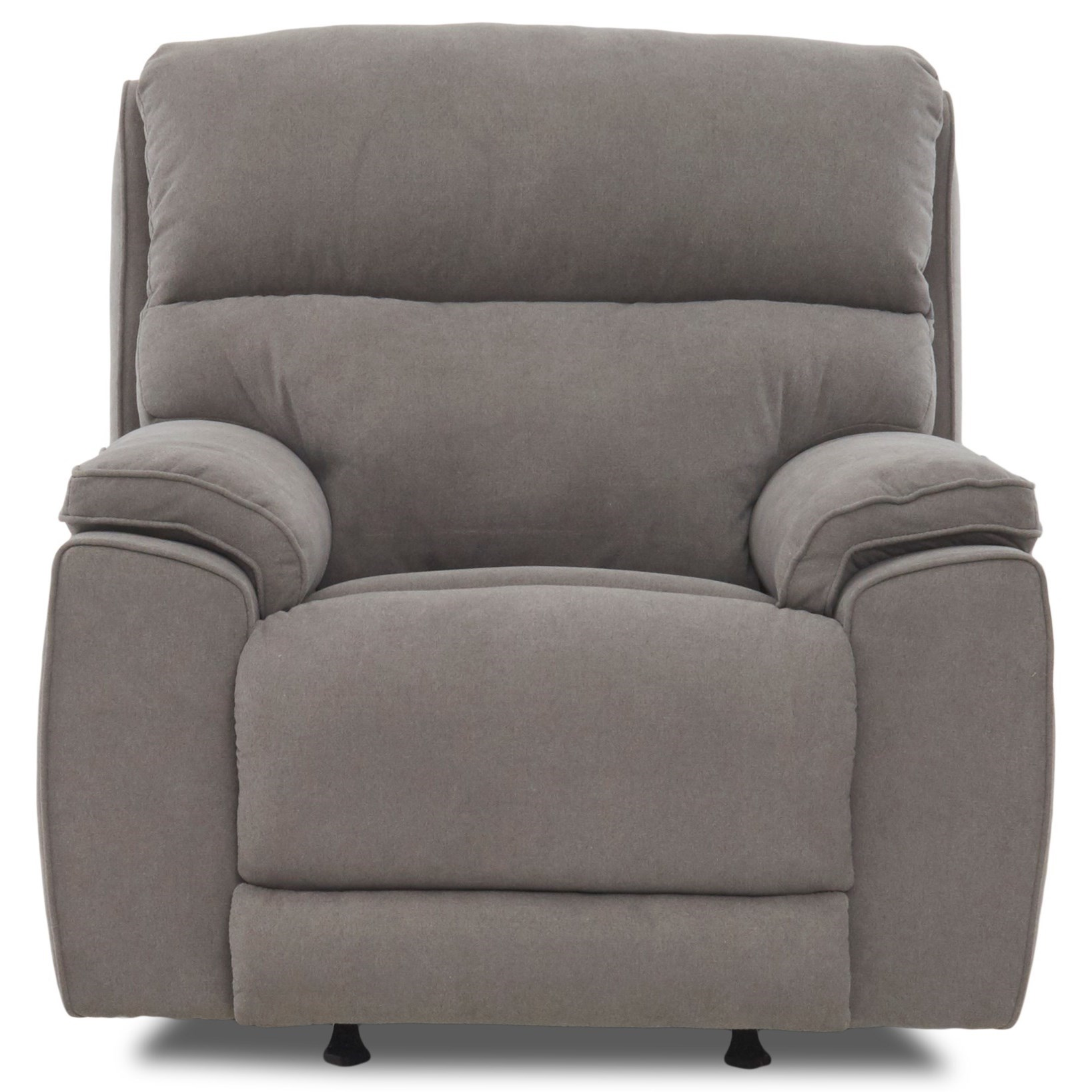 Omaha Power Rock Reclining Chair w/ Pwr Headrest by Klaussner at Catalog Outlet