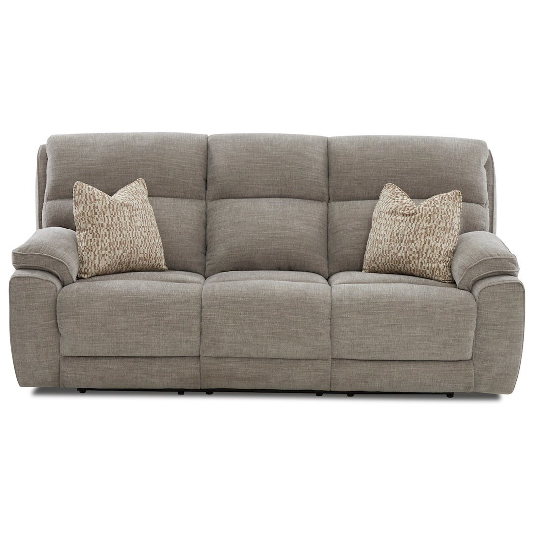 Omaha Power Reclining Sofa w/ Pillows by Klaussner at Northeast Factory Direct