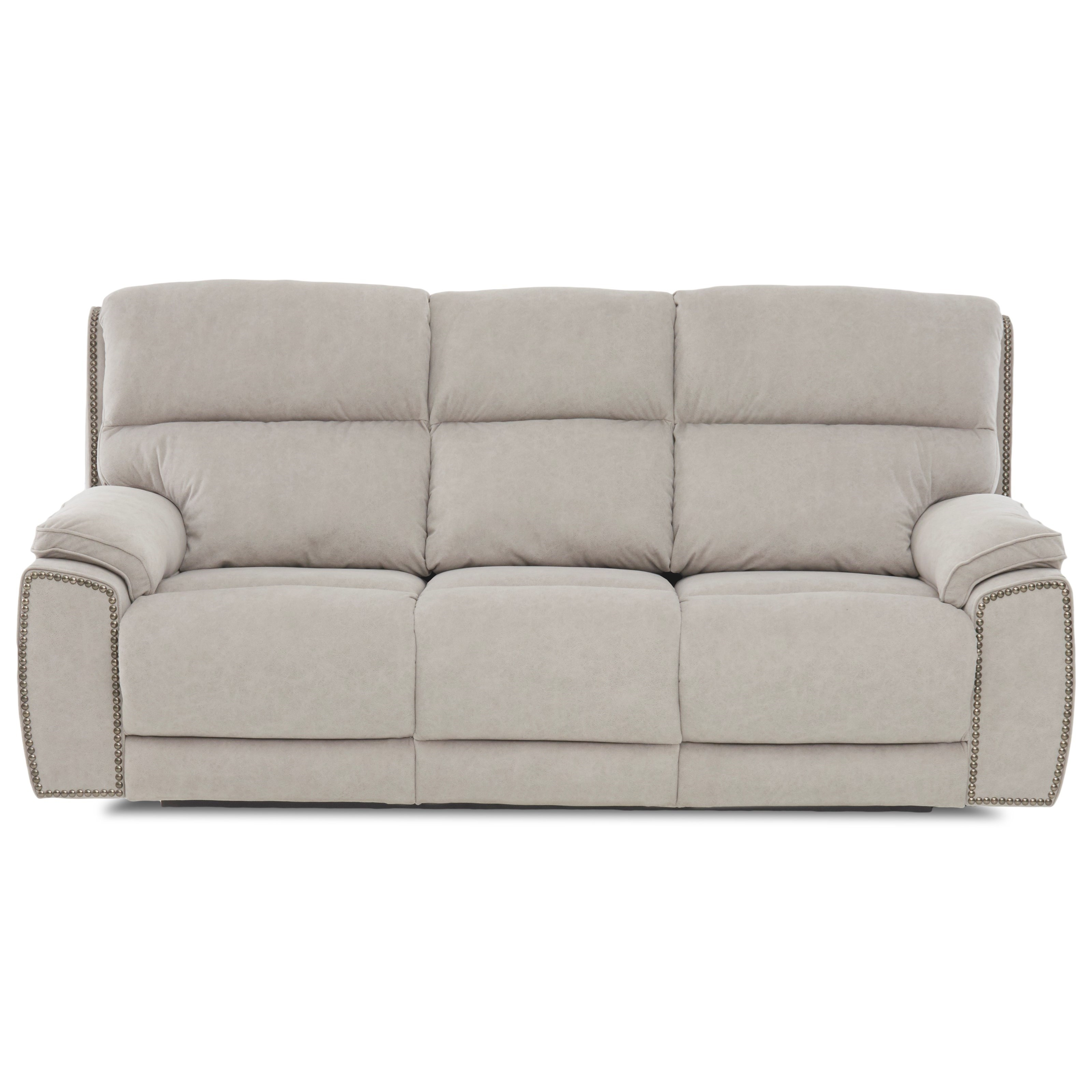 Omaha Reclining Sofa w/ Nails by Klaussner at Catalog Outlet