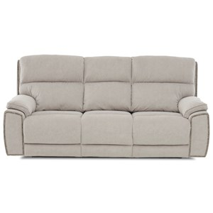 Power Nailhead Reclining Sofa with Power Head/Lumbar and USB Charging Ports