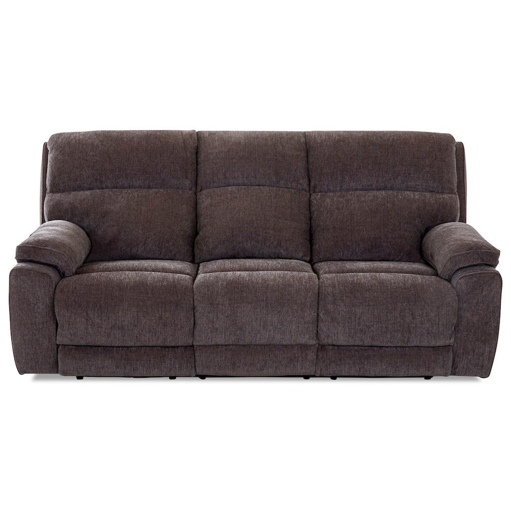 Omaha Power Reclining Sofa w/ Pwr Headrests by Klaussner at Rooms for Less