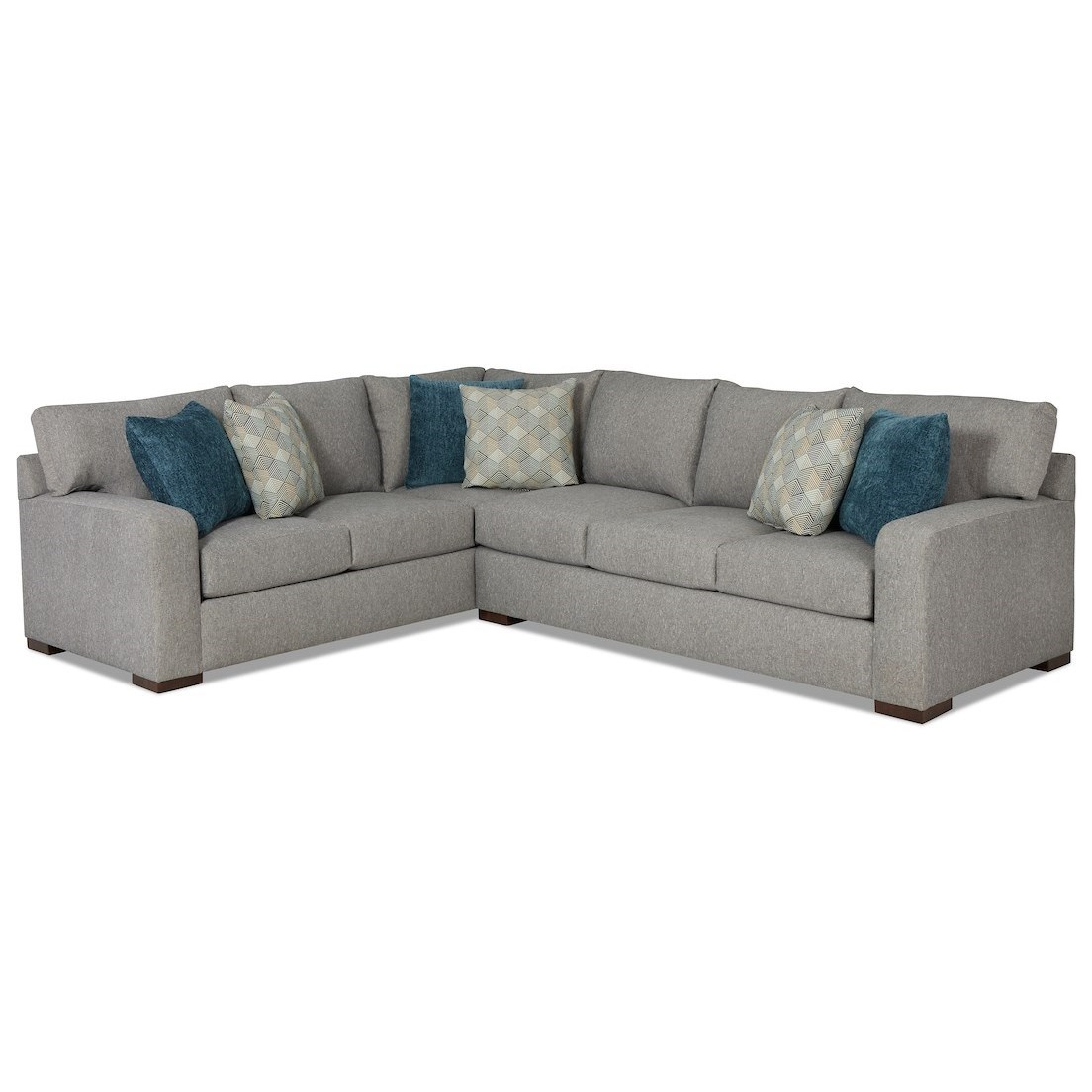 Pace 5-Seat Sectional Sofa w/ RAF Sofa by Klaussner at Johnny Janosik