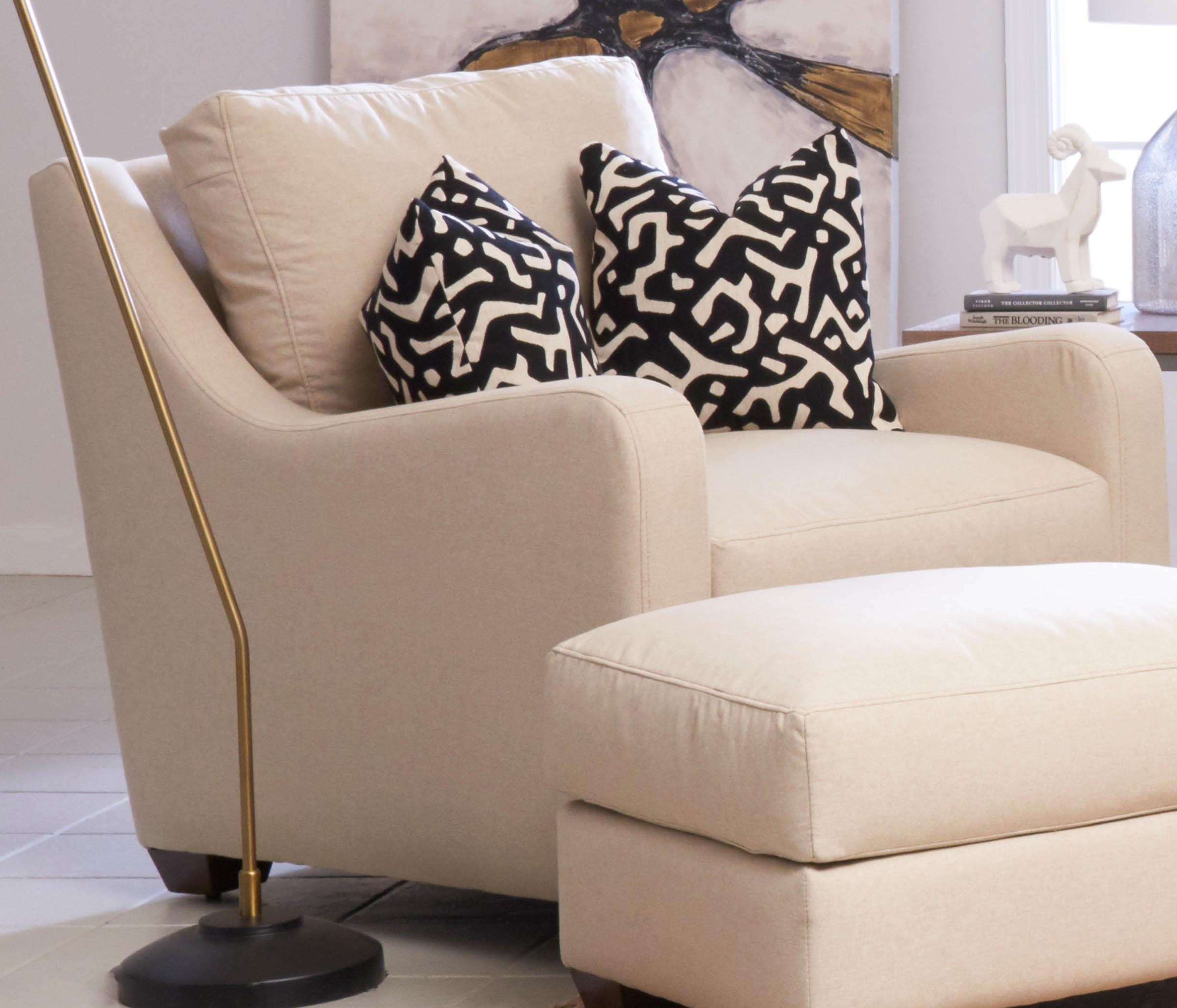 Transitional Big Chair with Track Arms