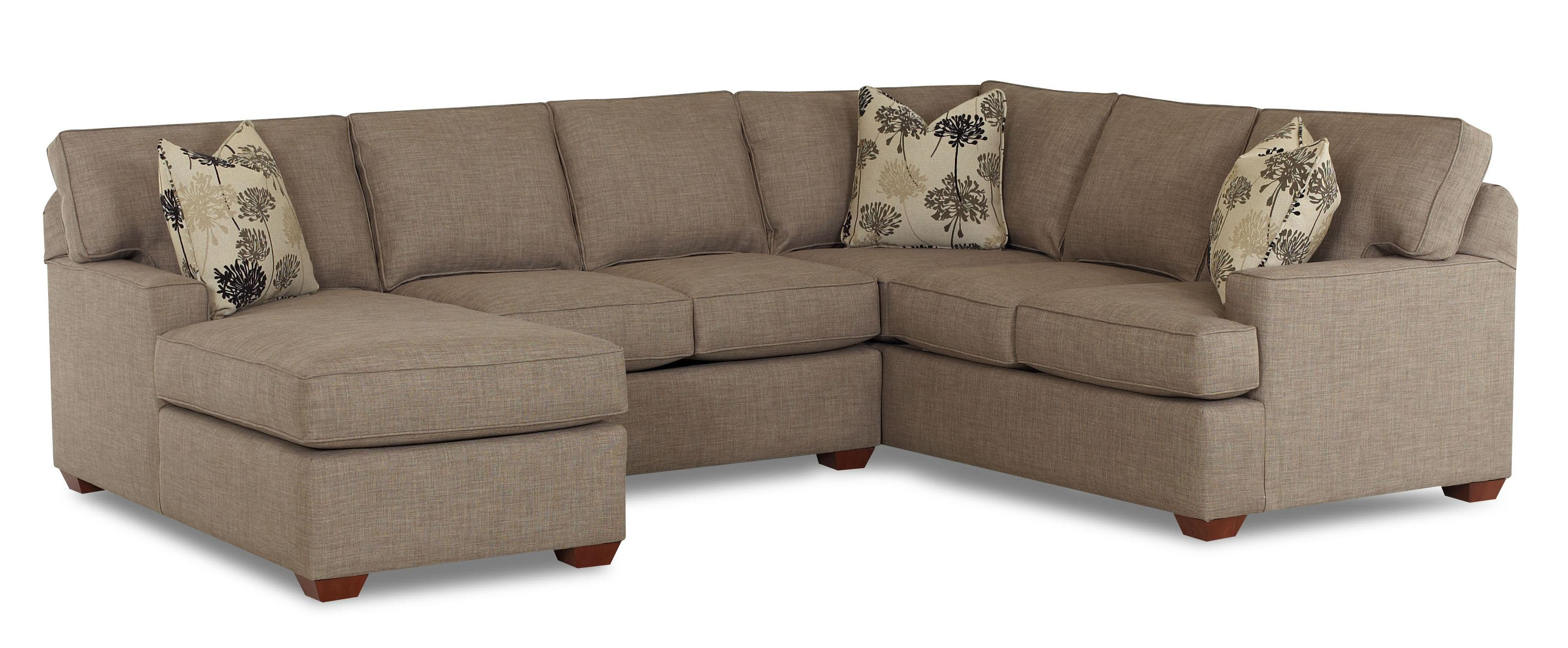 Pantego 3 Piece Sectional Sofa with LAF Chaise by Klaussner at Northeast Factory Direct