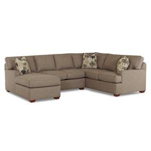 3 Piece Sectional Sofa with LAF Chaise