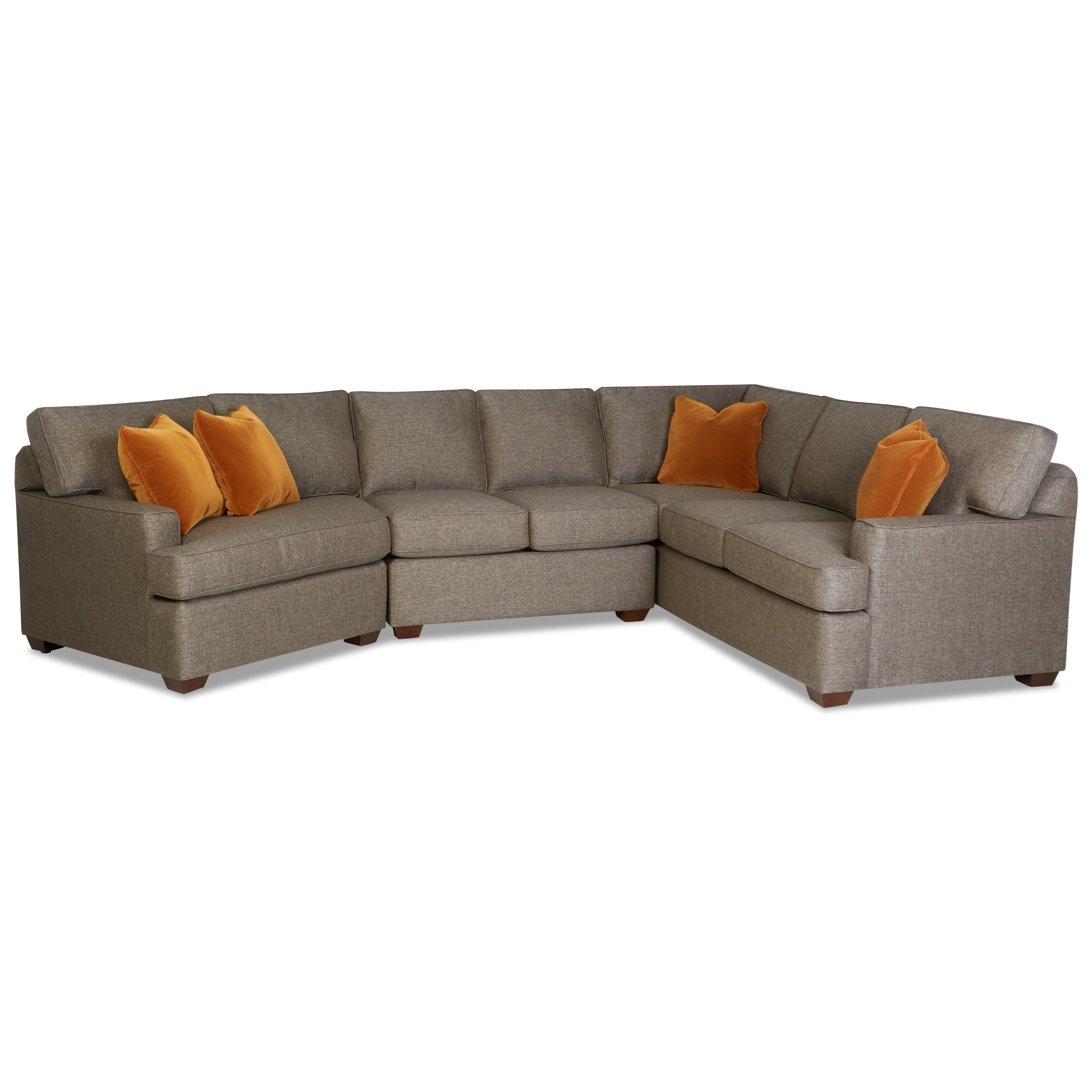 Pantego 3-Piece Sectional with Big Chair by Klaussner at Johnny Janosik
