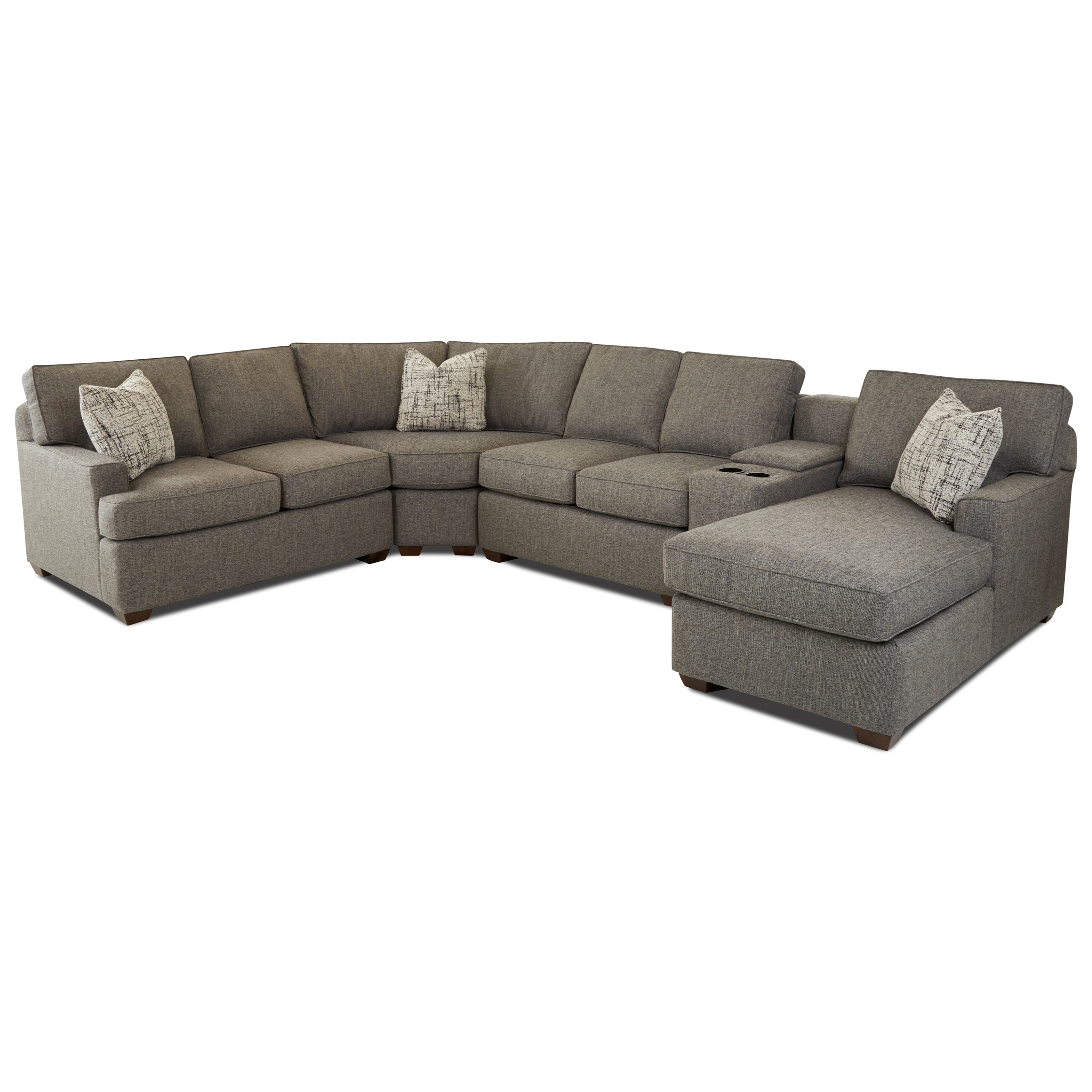 Pantego 5-Piece Sectional by Klaussner at Johnny Janosik