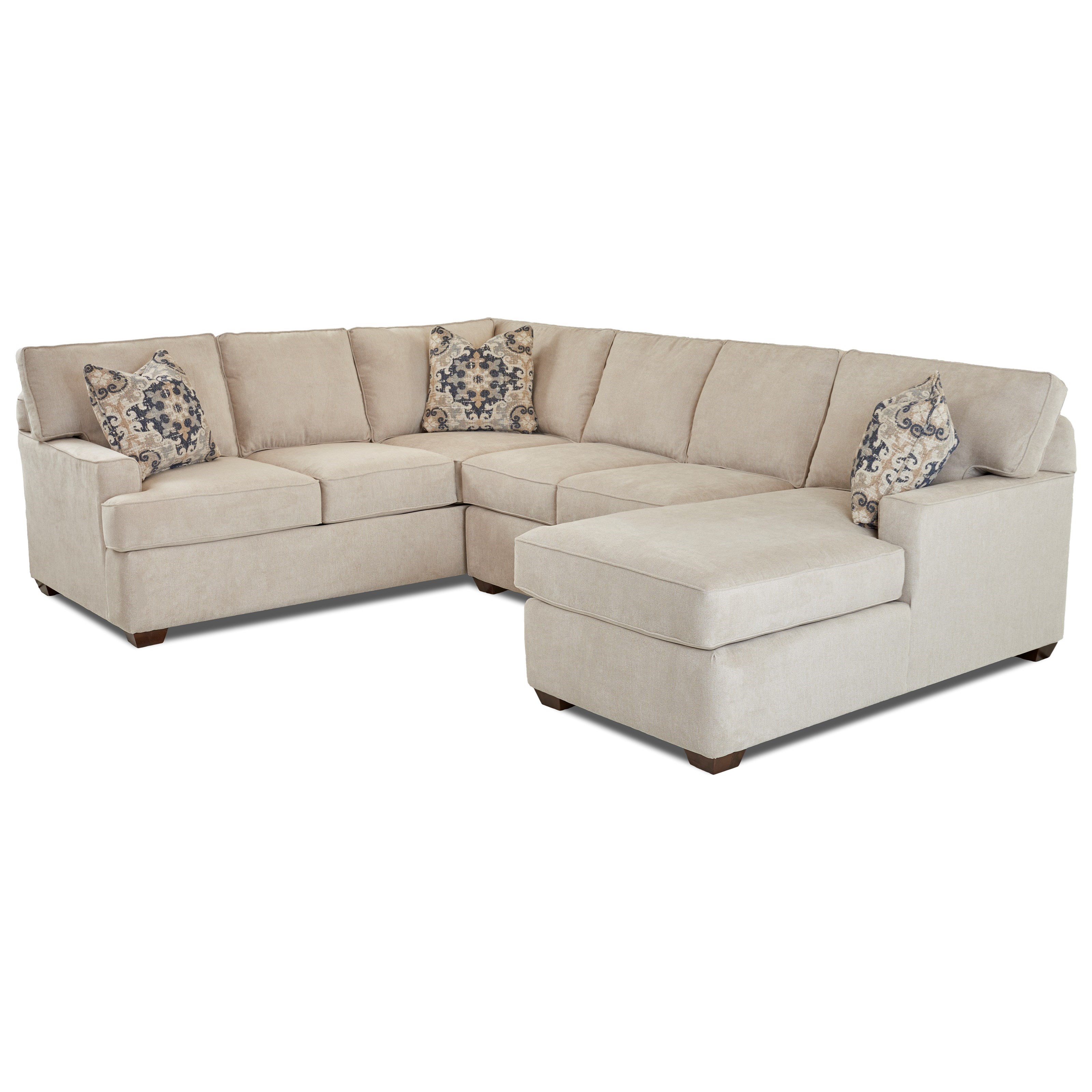 Pantego 3 Piece Sectional Sofa with RAF Chaise  by Klaussner at Northeast Factory Direct