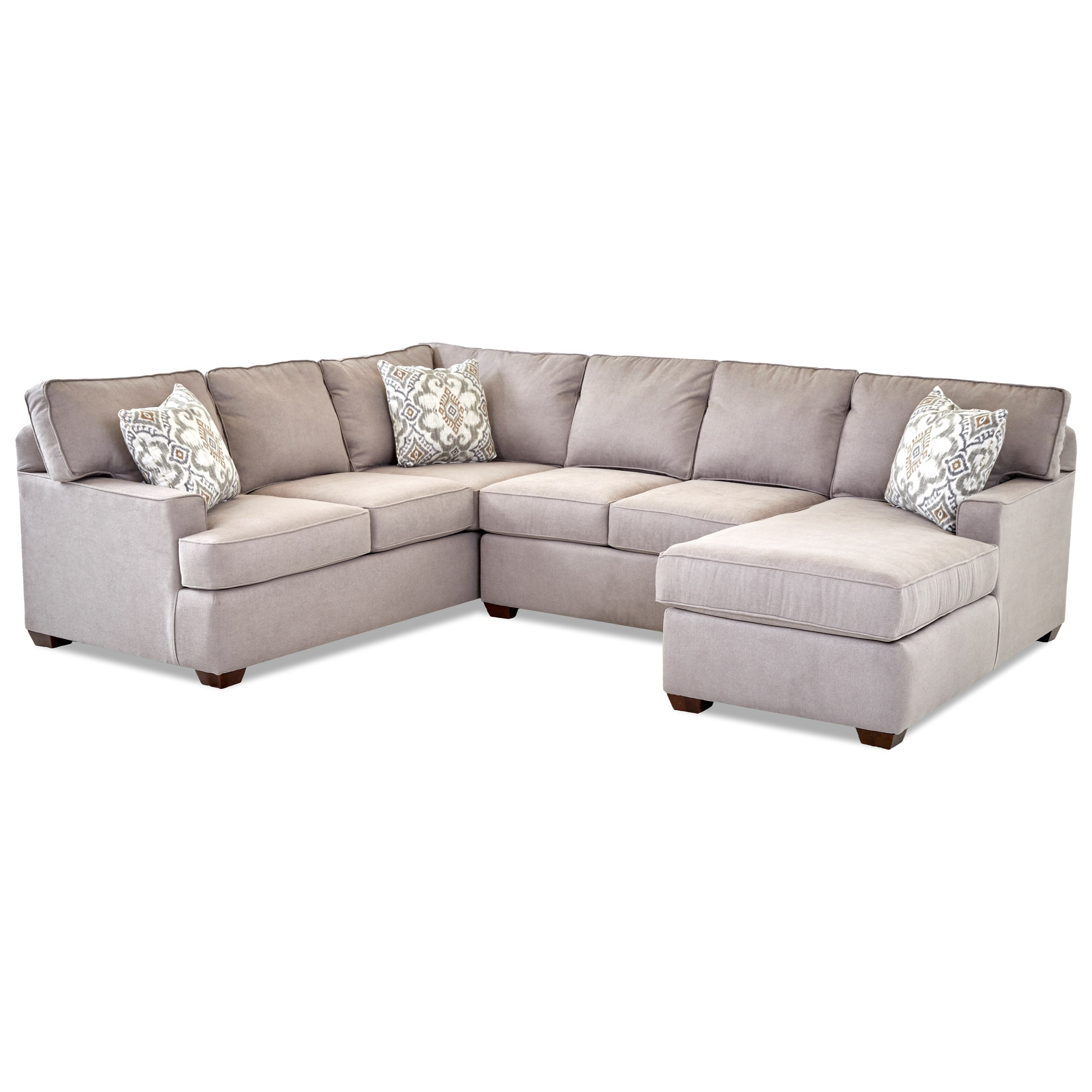 Pantego 3 Piece Sectional Sofa with RAF Chaise  by Klaussner at Johnny Janosik