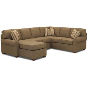 Klaussner Patterns Sectional Group with Chaise