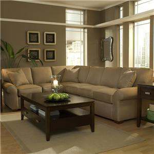 Klaussner Patterns Sectional Sofa Group