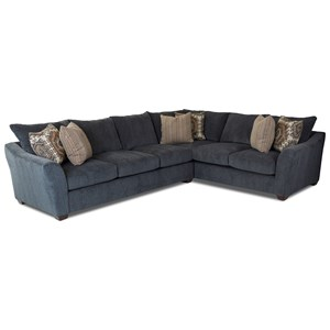 Two Piece Sectional Sofa with Right Corner Sofa