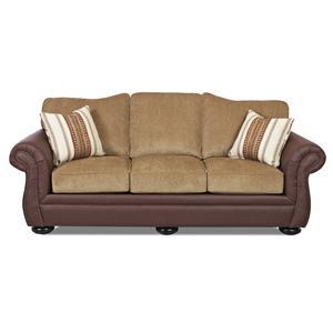 Klaussner Platter Street Traditional Stationary Sofa