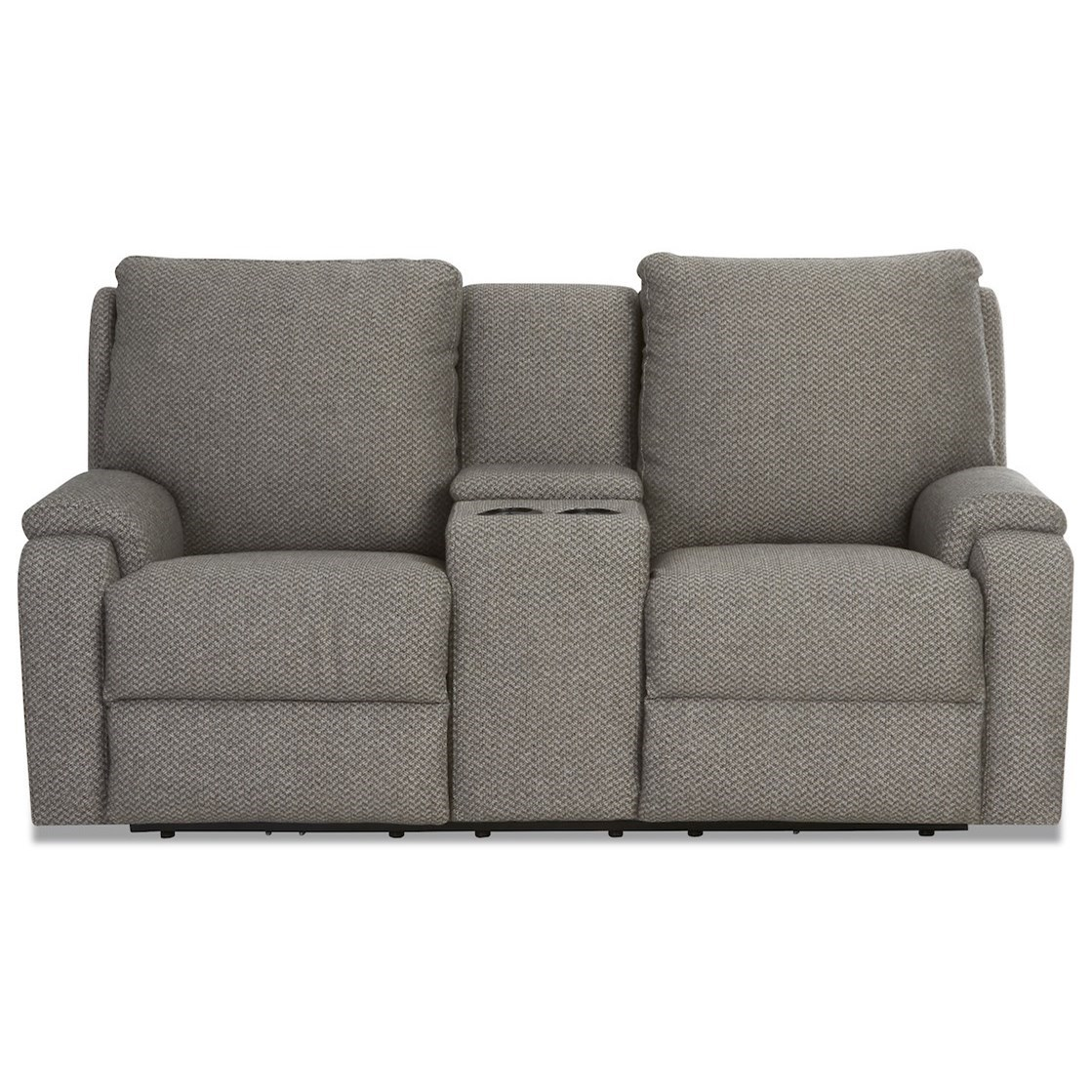 Podrick Power Reclining Console Loveseat by Klaussner at Catalog Outlet