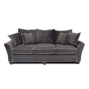 Contemporary Sofa with Block Feet