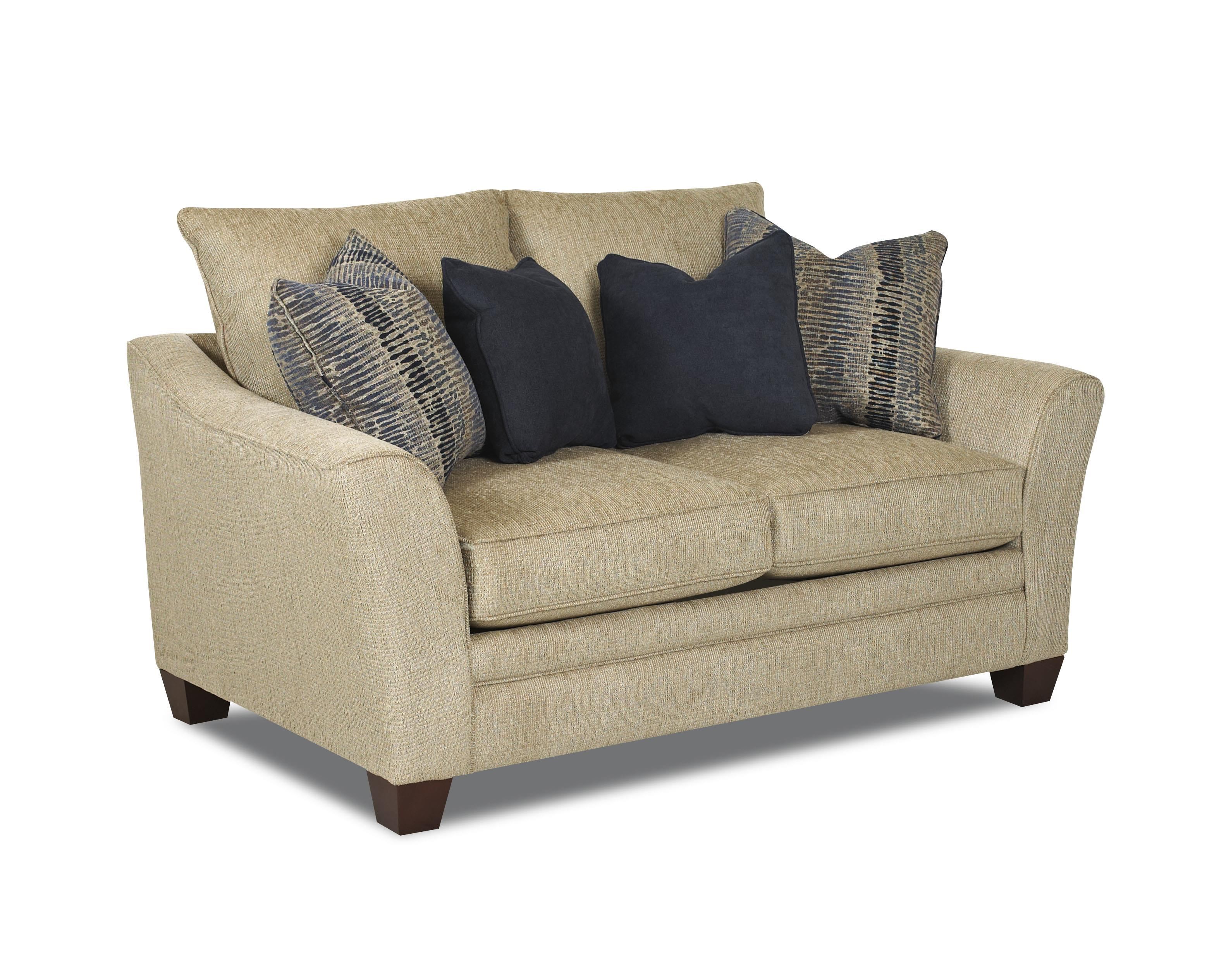 Posen Contemporary Loveseat by Klaussner at Johnny Janosik