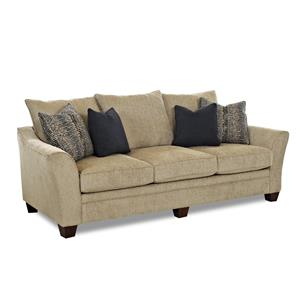 Contemporary Sofa with Block Feet