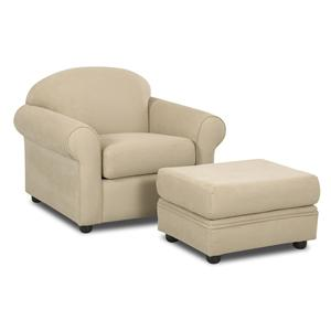 Klaussner Possibilities Chair with Ottoman