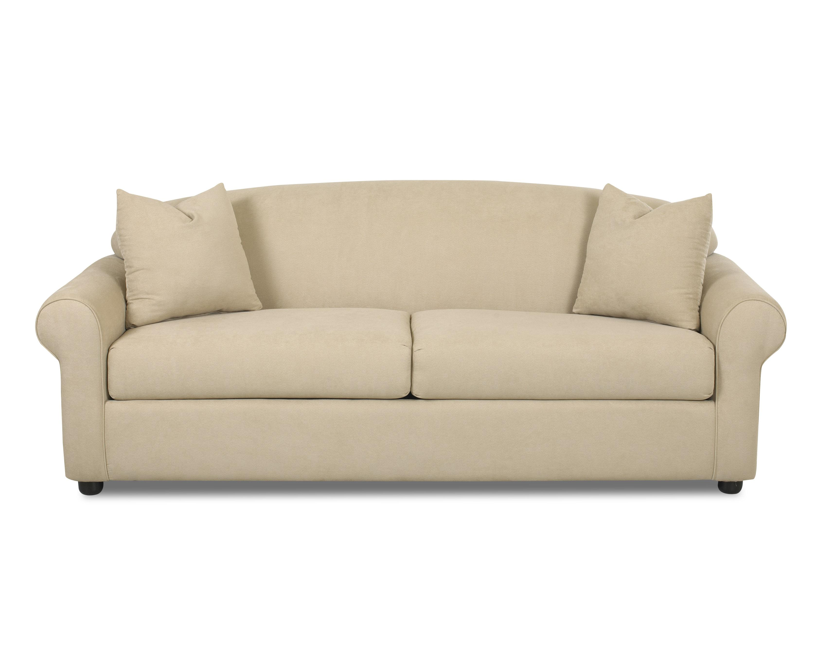 Possibilities Rolled Arm Sofa by Klaussner at Lapeer Furniture & Mattress Center