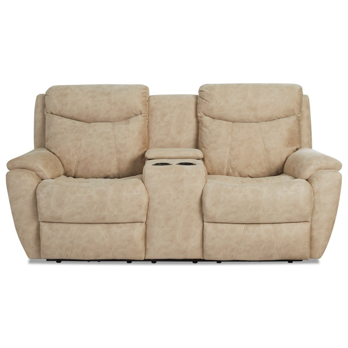 Proximo Power Console Reclining Loveseat by Klaussner at Northeast Factory Direct