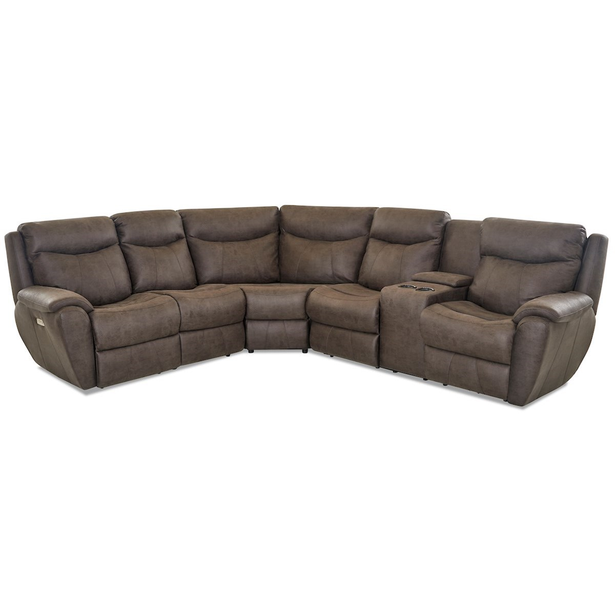 Proximo Pwr Recline Sofa w/ RAF Cnsl & Pwr Head/Lumb by Klaussner at Northeast Factory Direct