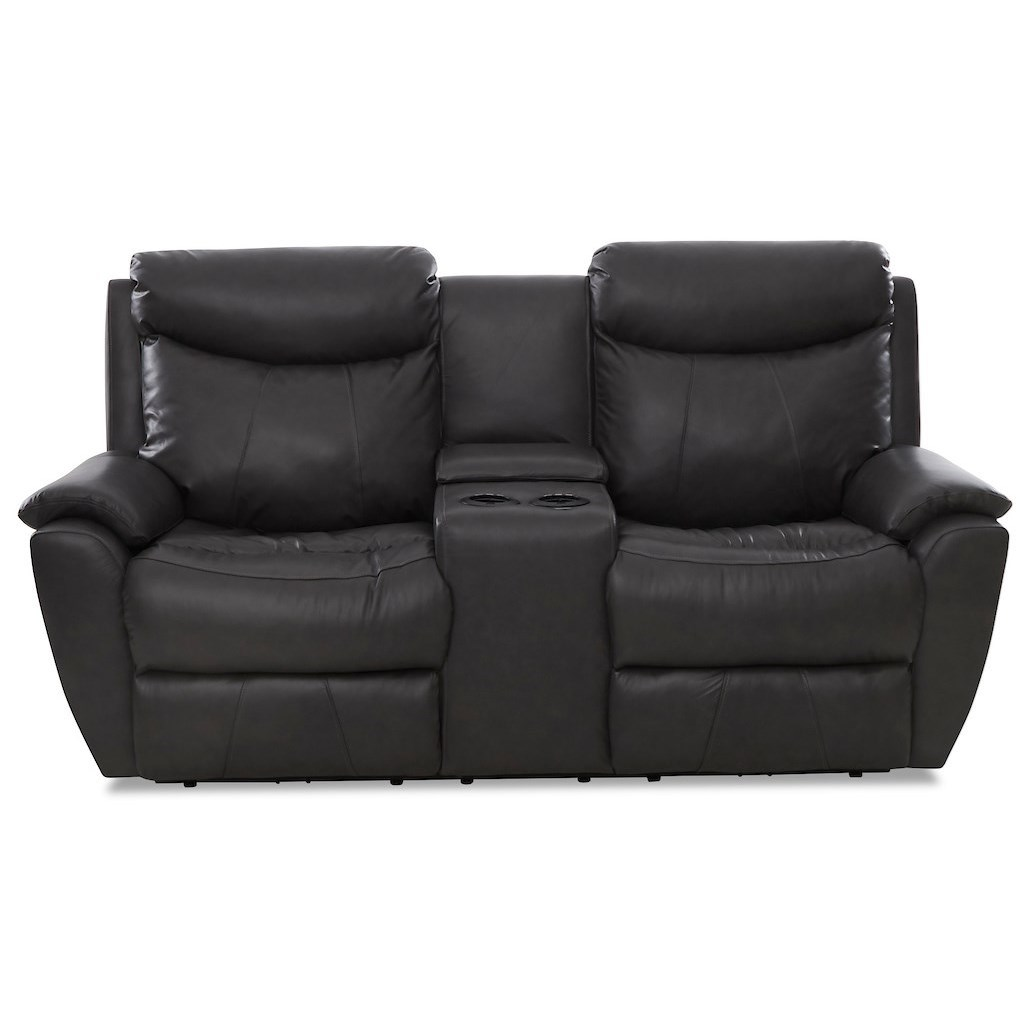 Proximo Console Reclining Loveseat by Klaussner at Northeast Factory Direct