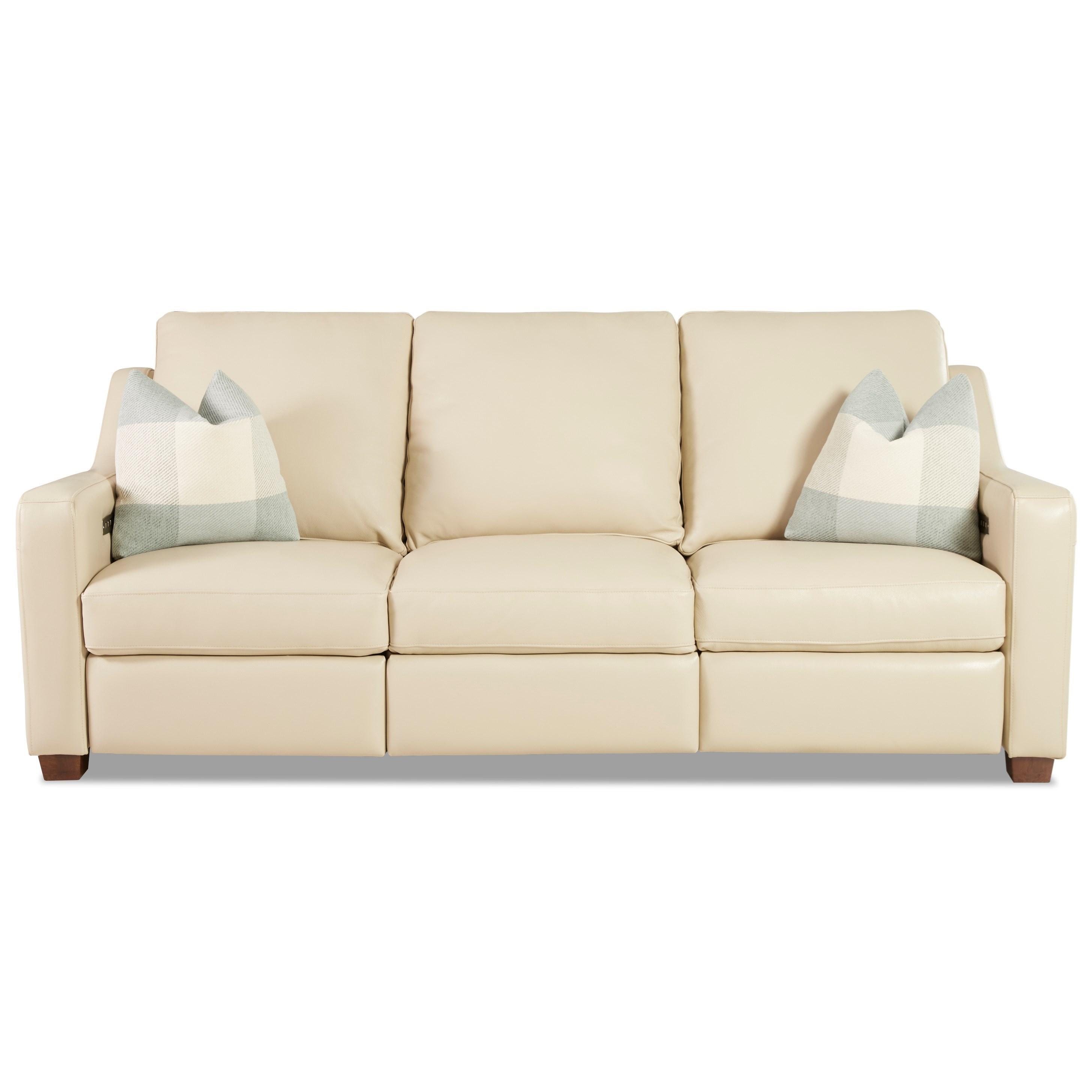 Pryor Power Reclining Sofa by Klaussner at Johnny Janosik