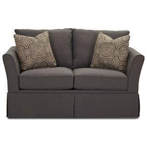 Casual Flared Arm Love Seat