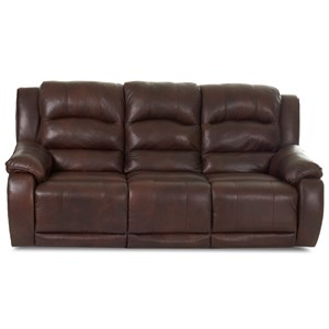 Power Reclining Sofa with Power Headrests and Power Lumbar