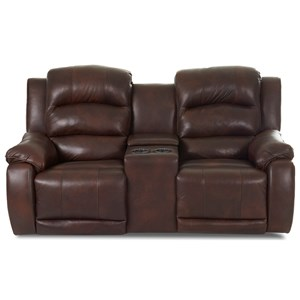 Reclining Console Loveseat with Power Headrest and Lumbar Support