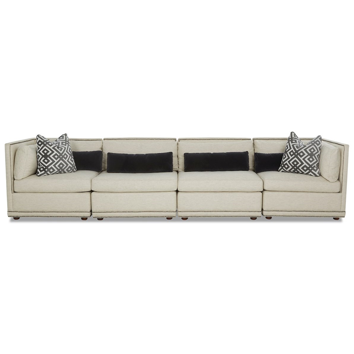 Rexford 4-Seat Sectional Sofa by Klaussner at Johnny Janosik