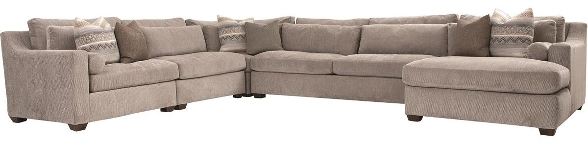 Roan 5 Piece Sectional by Klaussner at Darvin Furniture