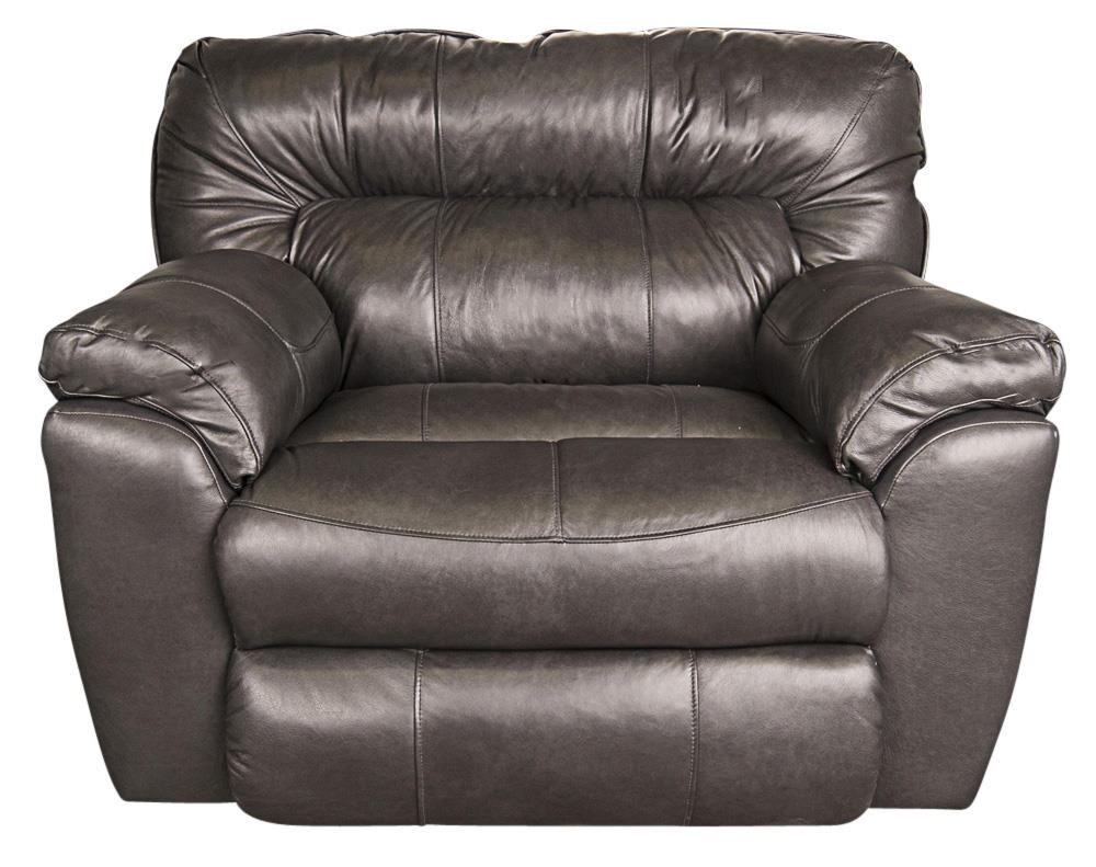 Ronna  Ronna Leather-Match Power Big Chair by Klaussner at Morris Home