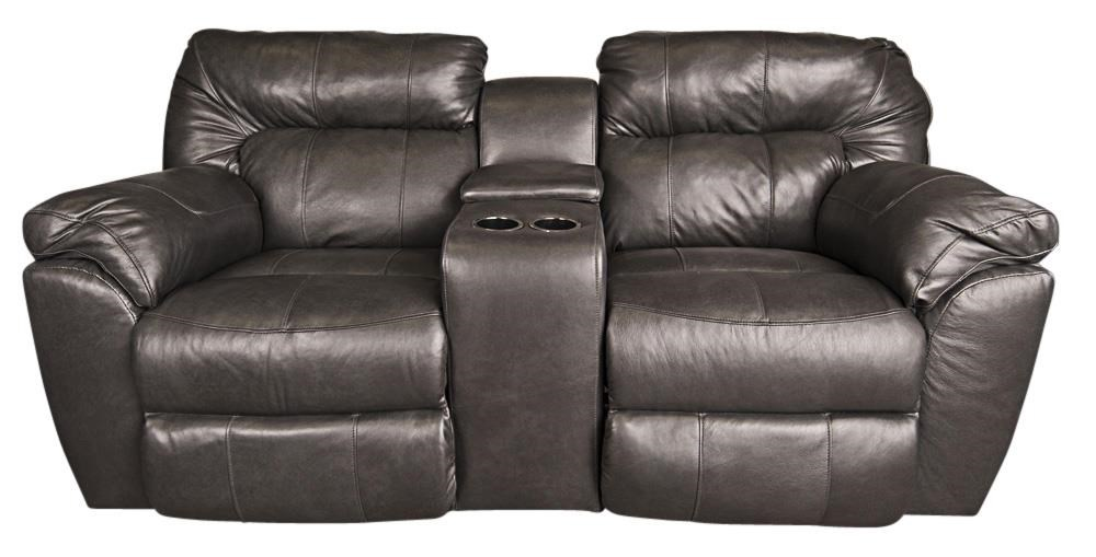 Ronna Ronna Leather Match Power Loveseat by Klaussner at Morris Home