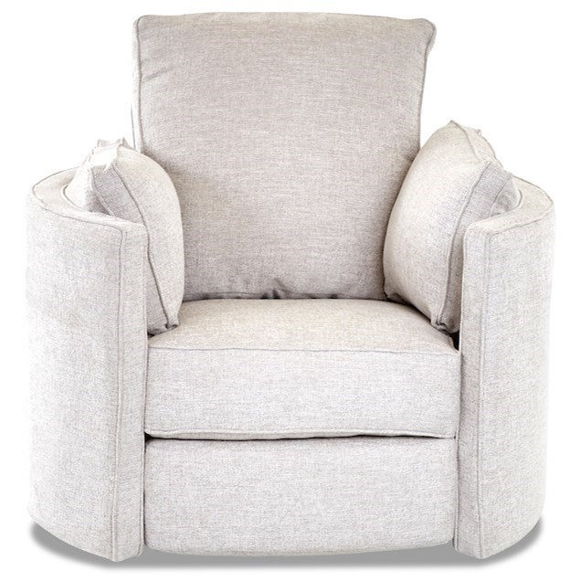 Ryder Transitional Reclining Swivel Chair by Klaussner at Johnny Janosik