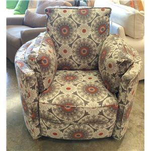Transitional Reclining Swivel Chair
