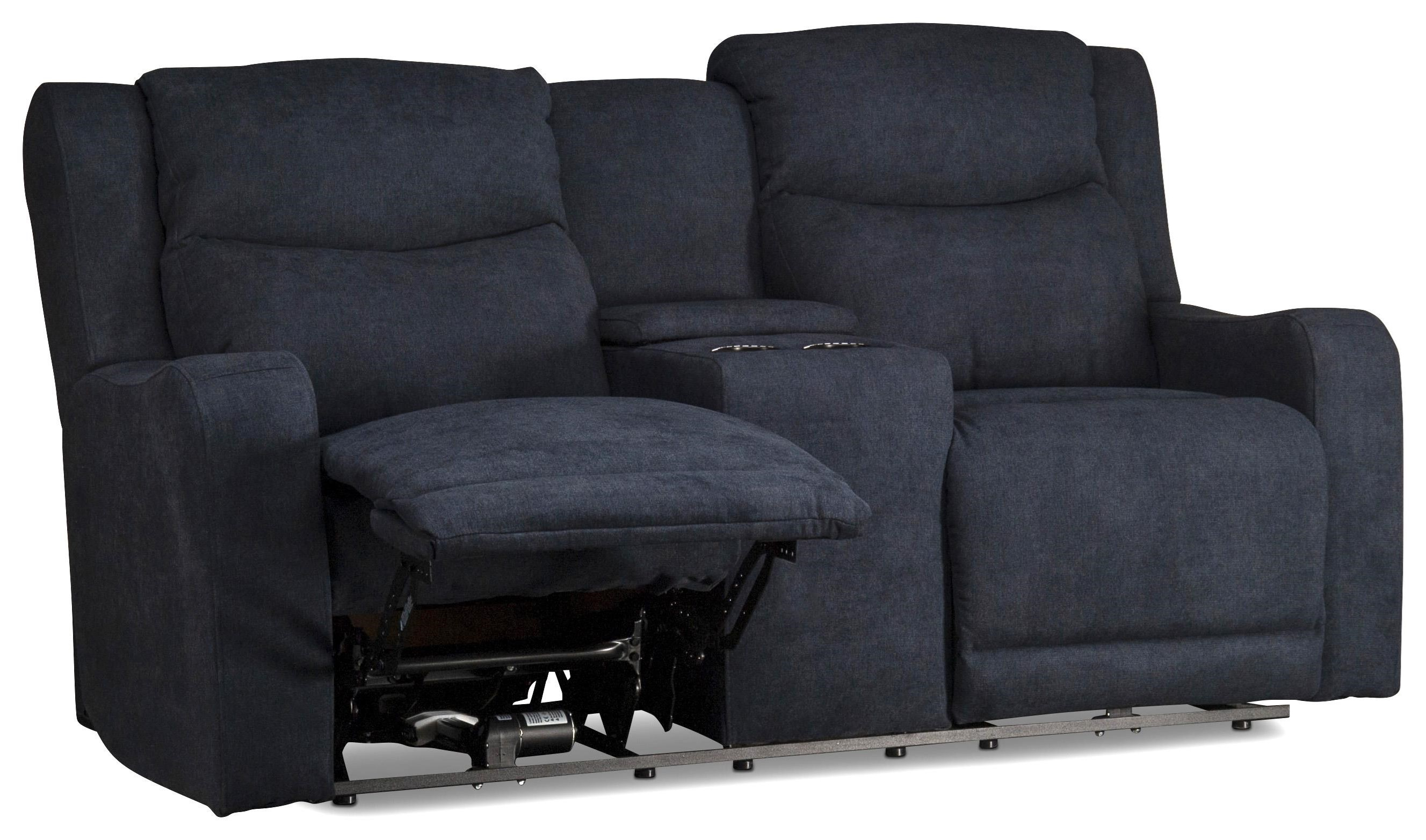 Ryland Ryland Power Reclining Console Loveseat by Klaussner at Morris Home