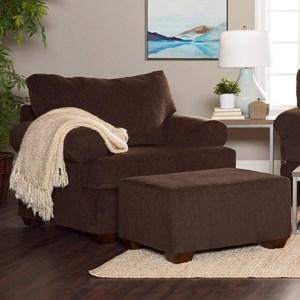 Casual Contemporary Chair & Ottoman
