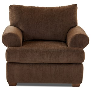 Casual Contemporary Chair with Rolled Arms