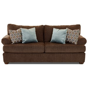 Casual Contemporary Sofa with Rolled Arms