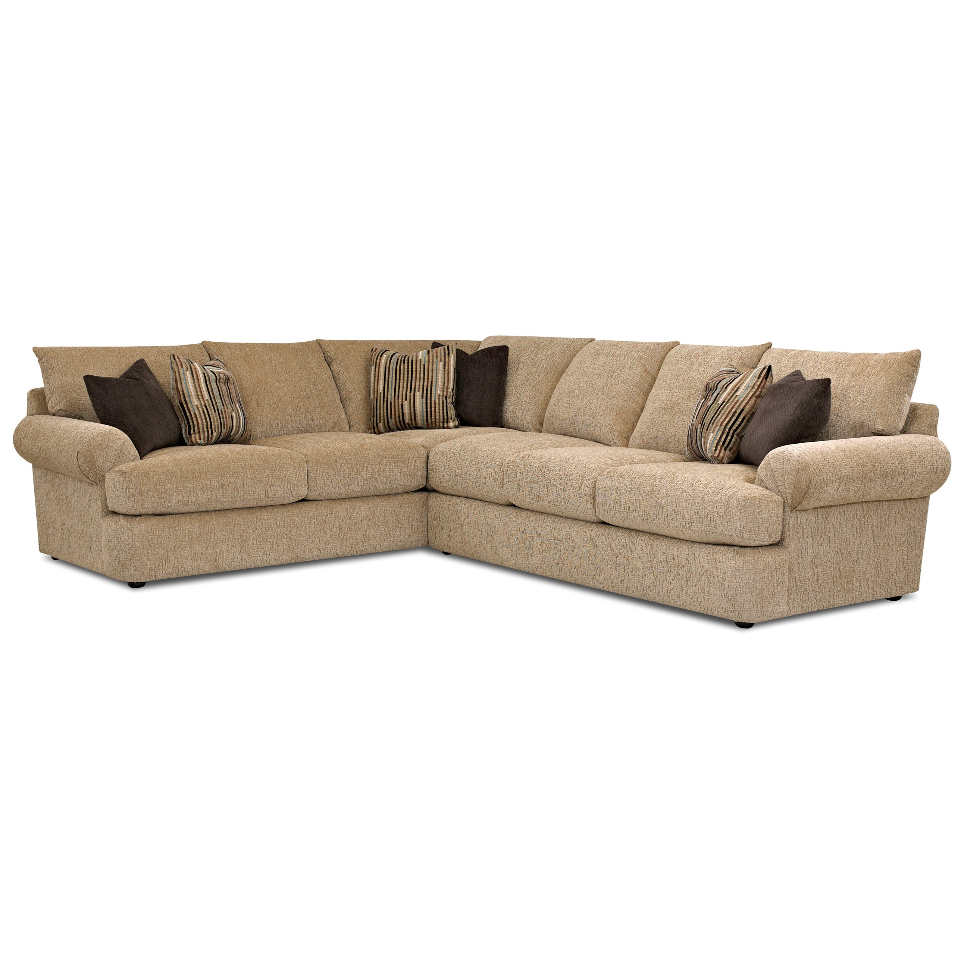 Samantha 2 Pc Sectional Sofa by Klaussner at Johnny Janosik