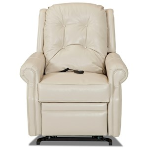 Transitional Power Lift Chair with Rolled Arms and Button Tufting