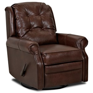 Transitional Manual Rocking Reclining Chair with Button Tufting