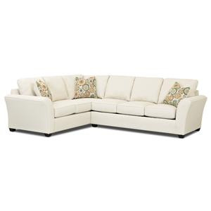Klaussner Sedgewick Transitional 2 Piece Sectional Sleeper Sofa