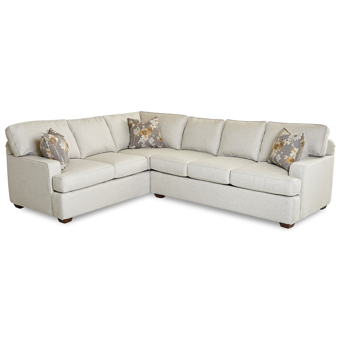 Selection 2-Piece Sectional Sofa w/ RAF Sofa by Klaussner at Northeast Factory Direct