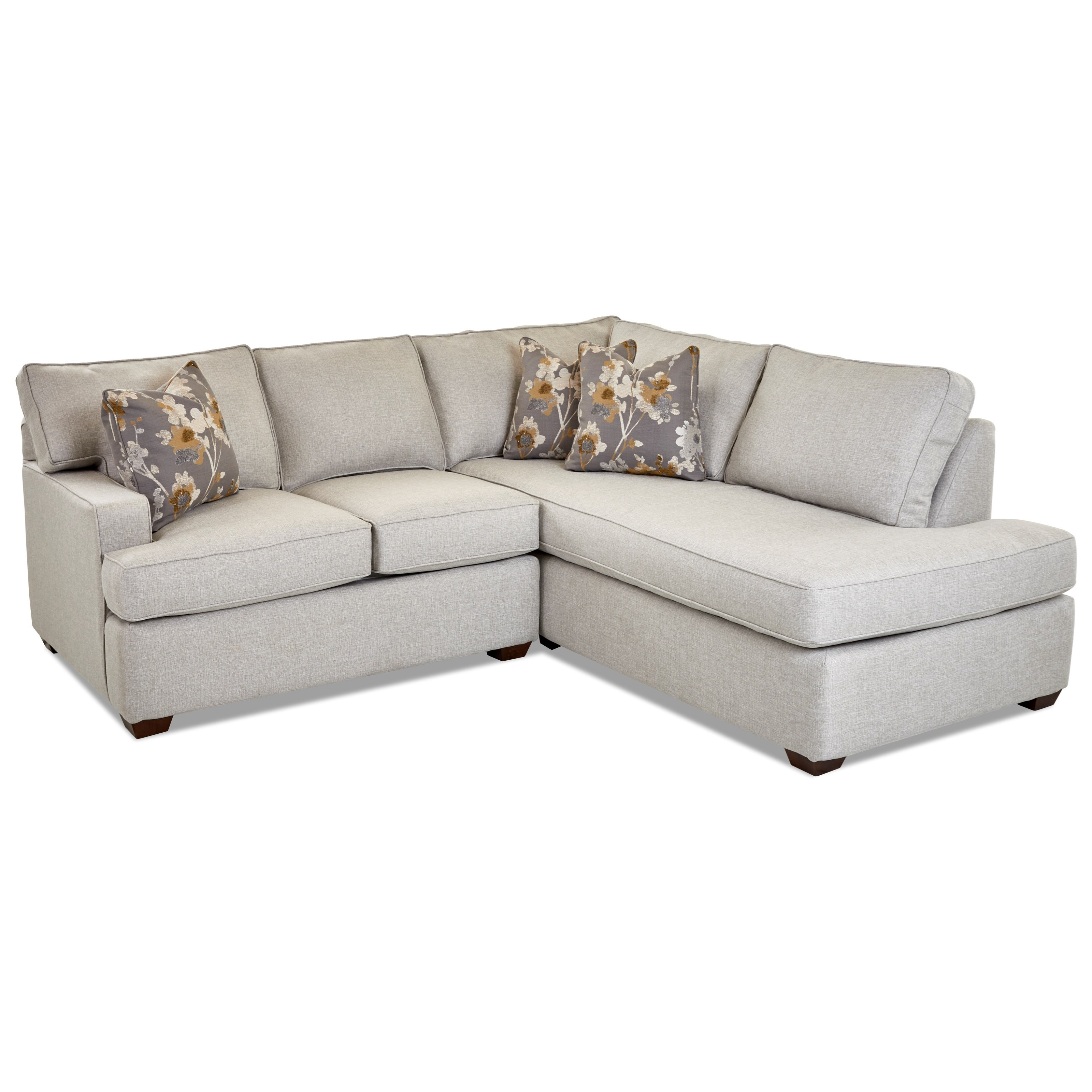 Selection 2-Piece Chaise Sofa w/ RAF Chaise by Klaussner at Northeast Factory Direct
