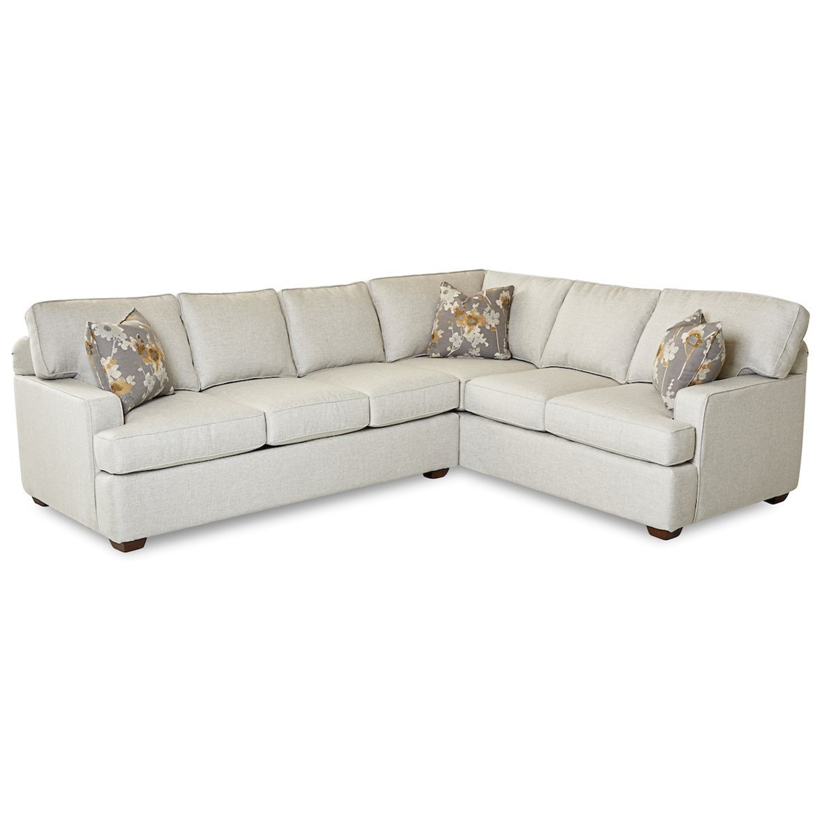 Selection 2-Piece Sectional Sofa w/ LAF Sofa by Klaussner at Catalog Outlet