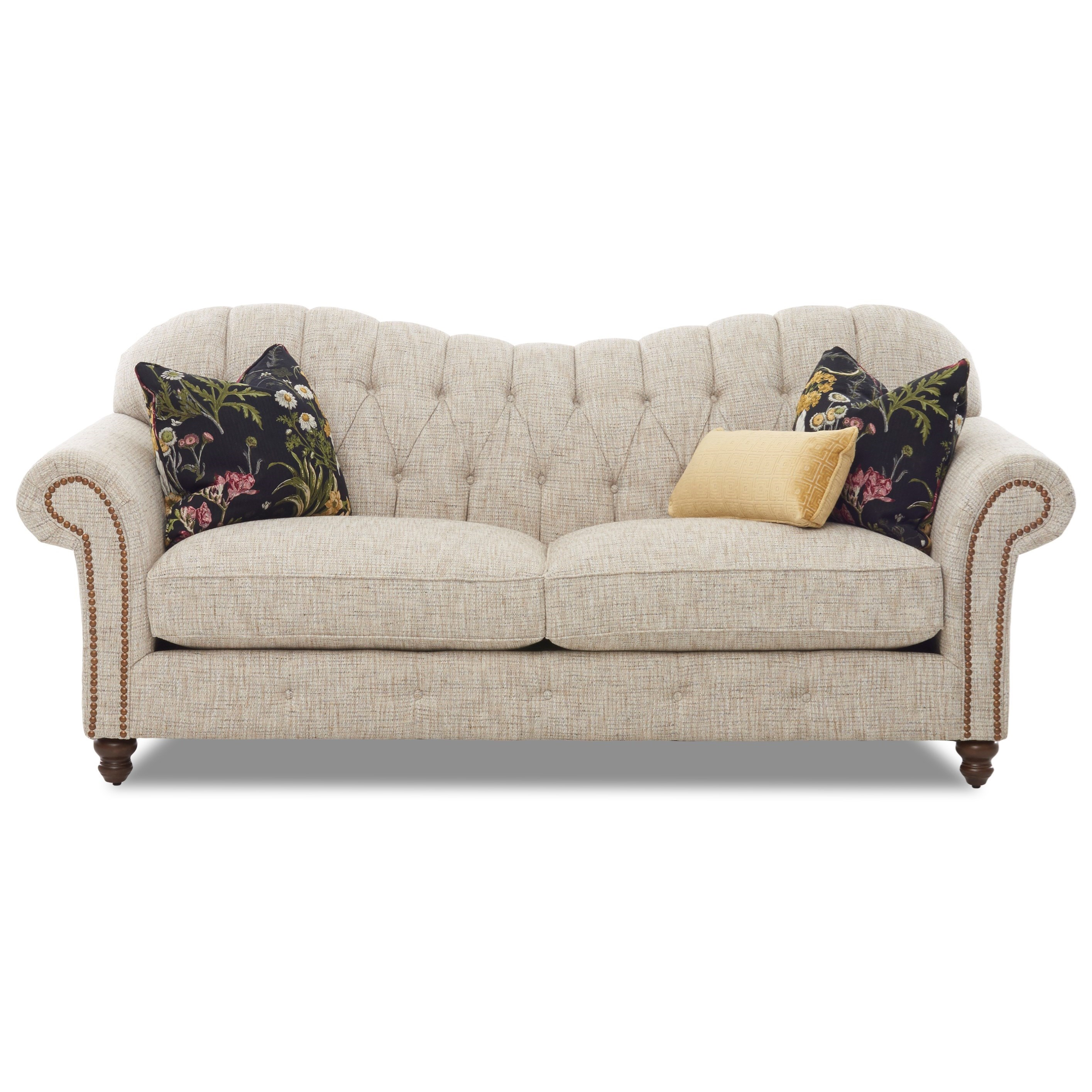Shelby Sofa w/ Nailheads by Klaussner at Northeast Factory Direct
