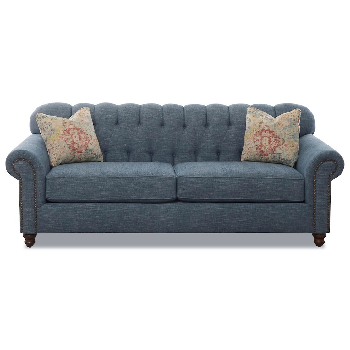 Sinclair Traditional Stationary Sofa by Klaussner at Johnny Janosik